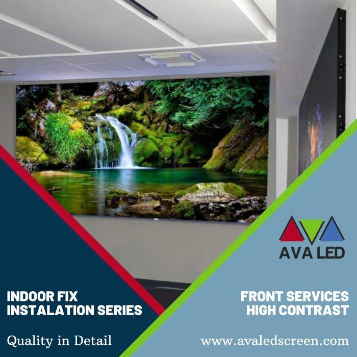 AVA LED TN-PRO-IF -sarja - AVA LED -näyttö sisätiloissa, etupuolen asennus