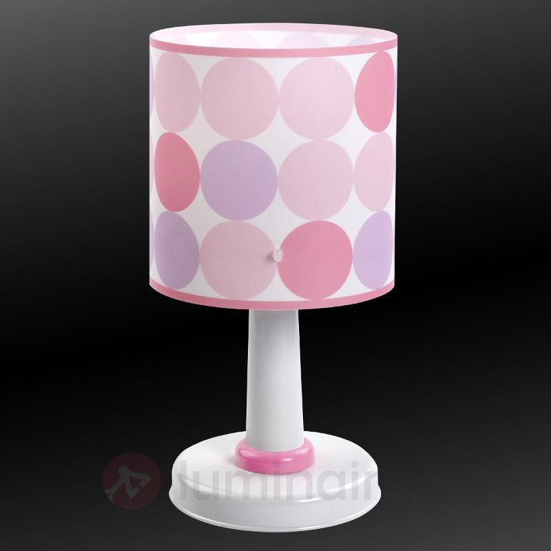 Colors - lampe à poser à pois, rose - Chambre d'enfant