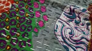 Kantha baby quilts  - Kantha handmade baby quilt