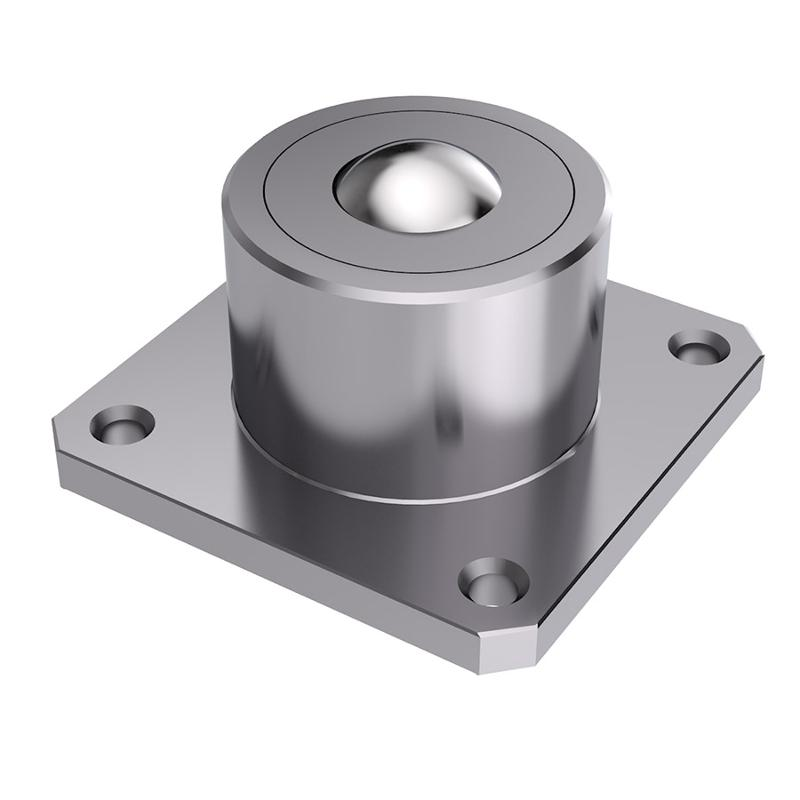 Heavy-duty ball caster with base flange - null