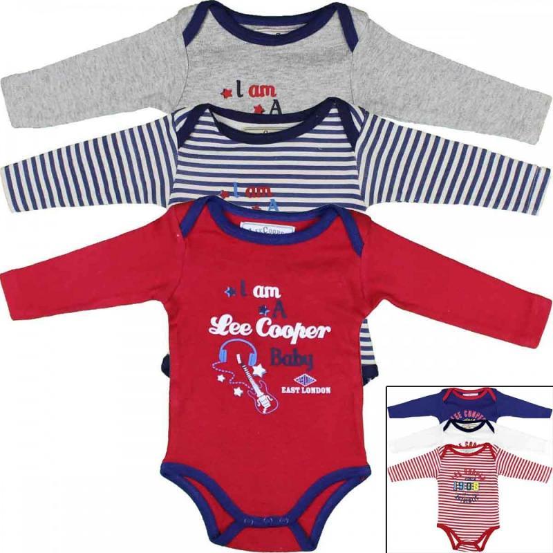 10x Packs de 3 bodys Lee Cooper du 1 au 18 mois - Vêtement été