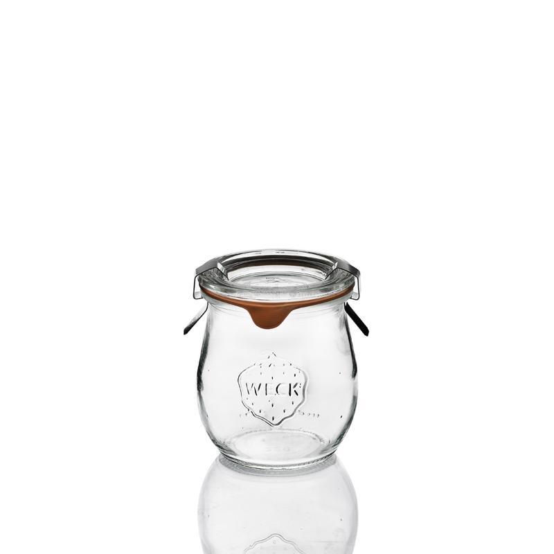 12 tarros en vidrio WECK Corolle® 220 ml  - con tapas y gomas (clips no incluidos)
