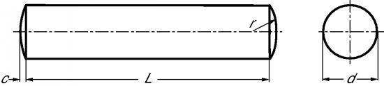 GOUPILLE CYLINDRIQUE (CLASSE DE PRÉCISION M6) INOX A1 - DIN 7 - ISO 2338 (218703)