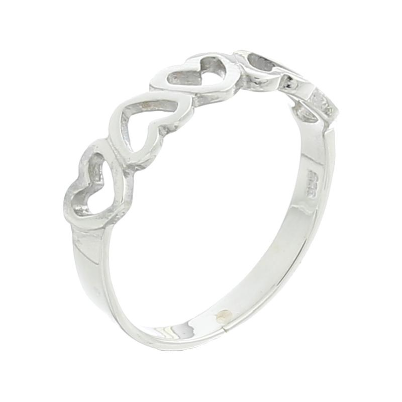 Sterling Silver Heart Eternity Ring - Product ID 22890