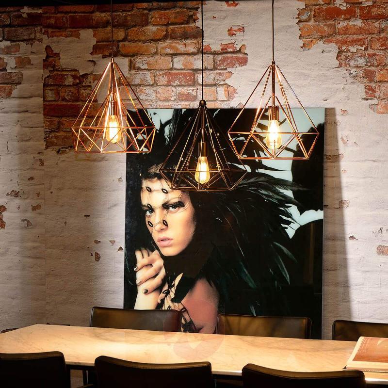 Attractively designed Ricky hanging light, black - Pendant Lighting
