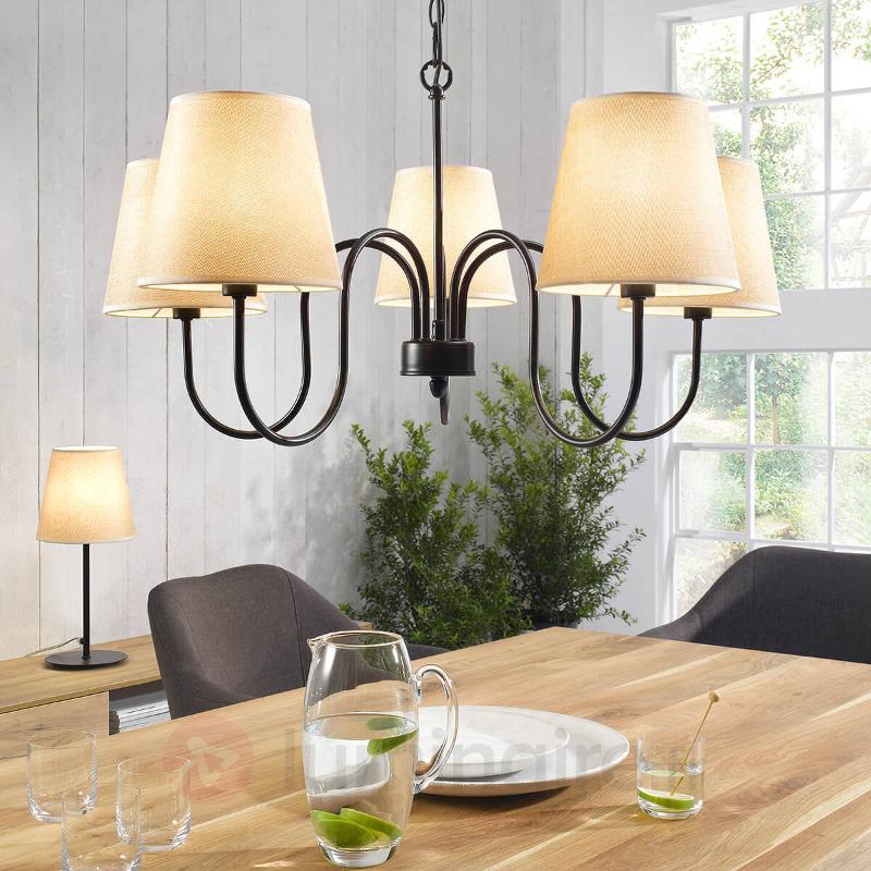 Charmante lampe à poser Swing - Lampes à poser en tissu