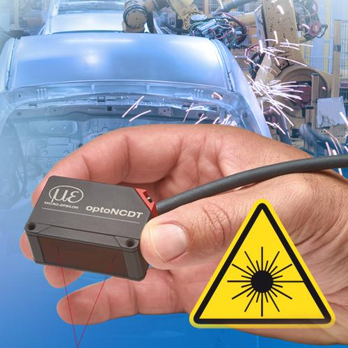Laser displacement sensors with laser class 1 - optoNCDT 1420 CL1