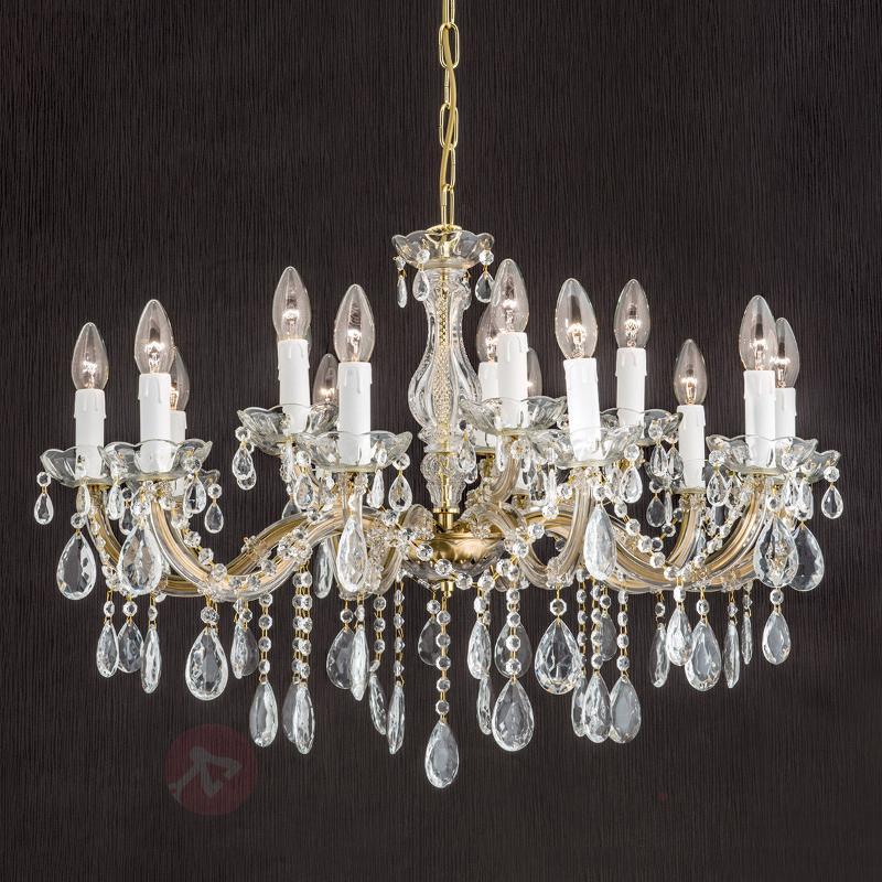 Beau lustre DOLORES avec cristaux - Lustres en cristal