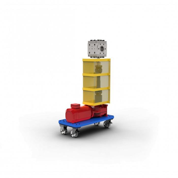 Pompa per materiali fusi - Pompa per fusione -- produzione di nontessuti e per l'impiego nell'estrusione