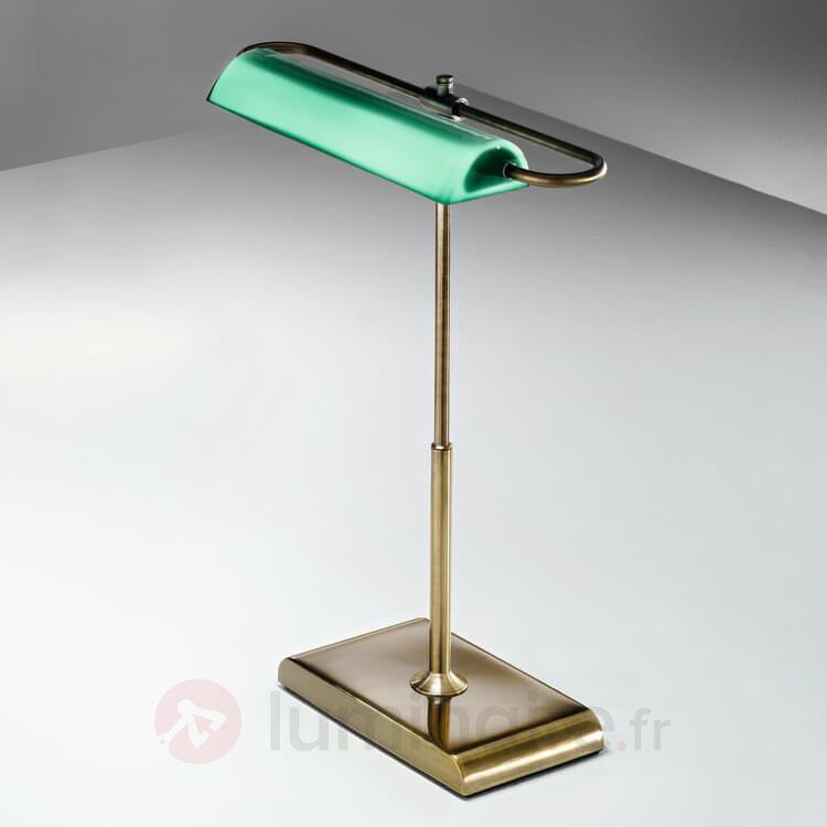 Wallstreet - lampe à poser LED avec abat-jour vert - Lampes de bureau LED