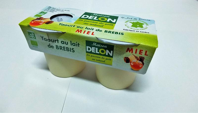 YAOURT AU LAIT DE BREBIS BIO MIEL (2 X 120 GRS) - Produits laitiers