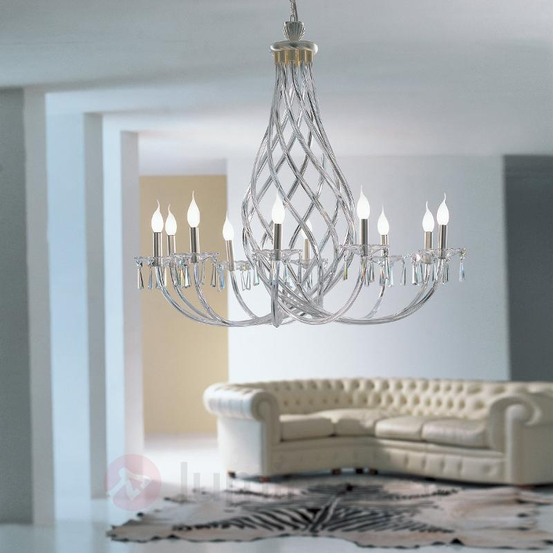 Lustre INTRECCI gainé de verre de Murano - Lustres designs, de style