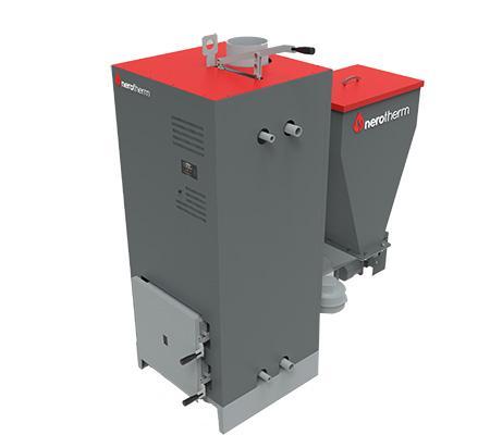 Nero 25-40-60-80 Kw Olive Husk Boiler - Outdoor Solid Fuel Fired Boiler