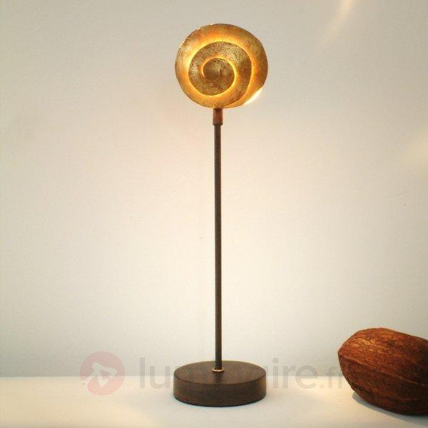 Jolie lampe SCHNECKE GOLD en fer - Lampes à poser pour rebord de fenêtre