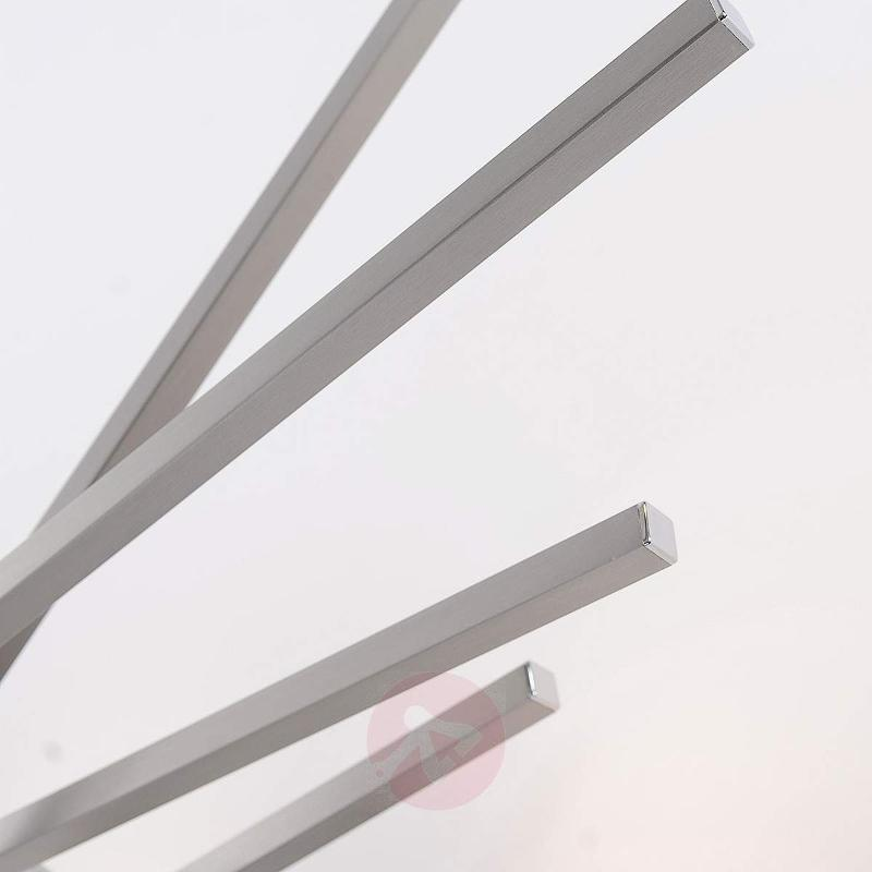Vera - dimmable LED ceiling light, matt nickel - Ceiling Lights