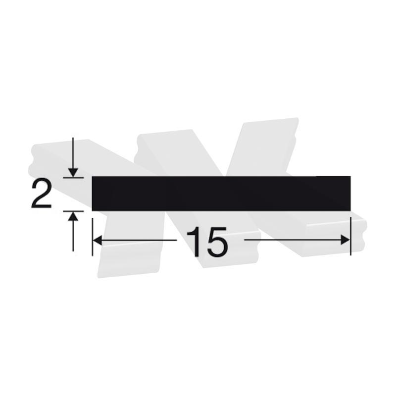 Flat-profile 15x2mm, white - Flat-profiles