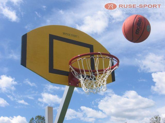 Basketball ring - Basketball backboards, rings, nets, balls.