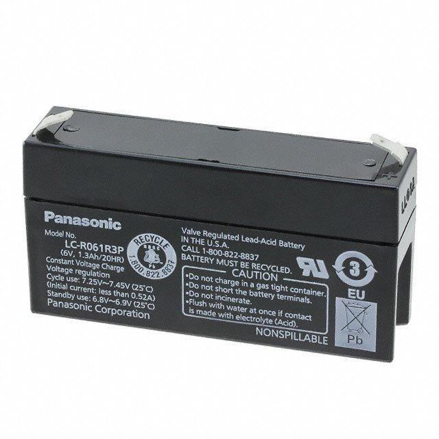 BATTERY LEAD ACID 6V 1.3AH - Panasonic - BSG LC-R061R3P