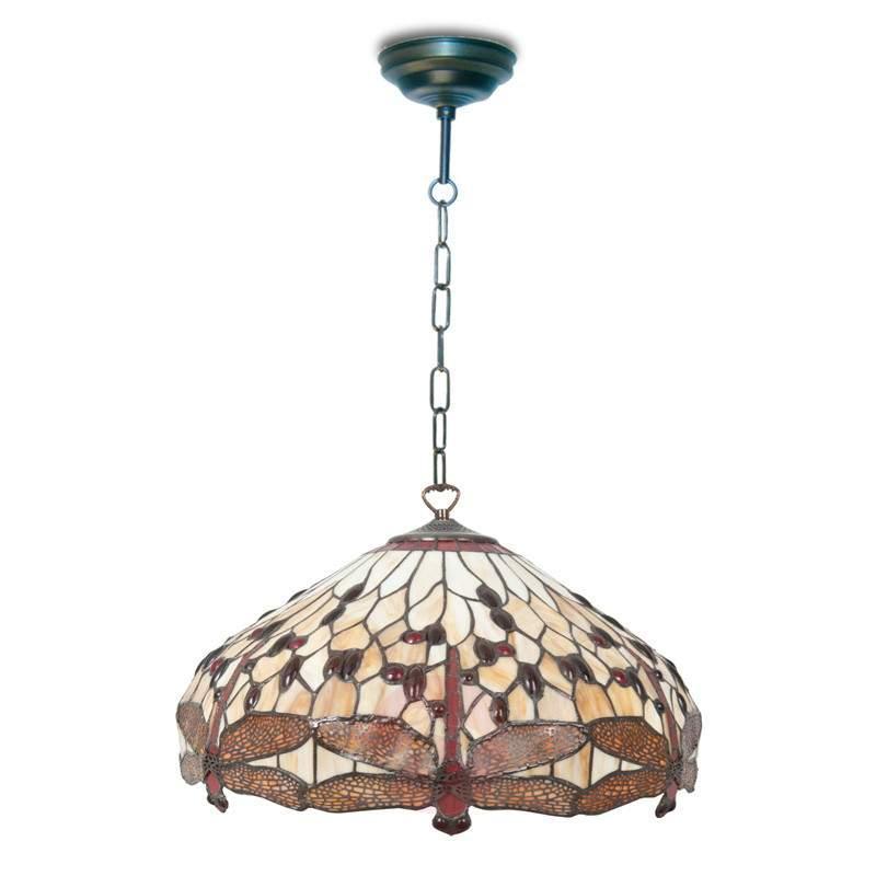 Enchanting hanging lamp Pavol in a Tiffany design - Pendant Lighting