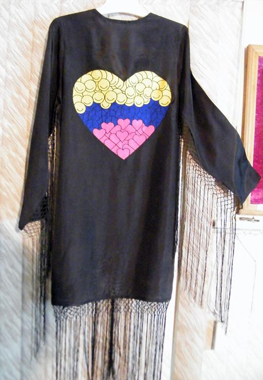 Custom Embroidered Silk Jackets with Fringes - Silk. Hand Embroidered dresses. Manufacturing