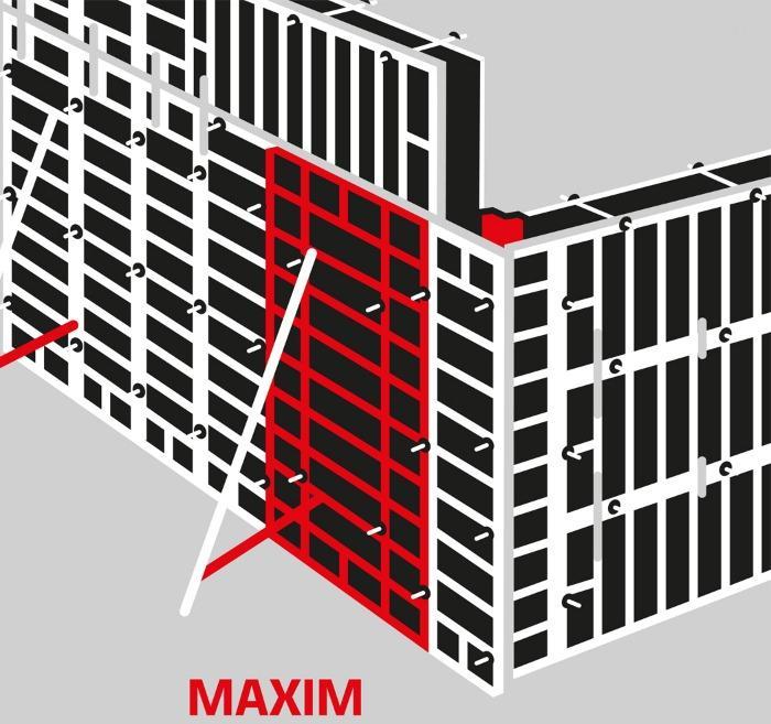 MAXIM CASSEFORME PER PARETI ALU/ACCIAIO - MAXIM pressione ammissibile di getto - 60 kN/m²