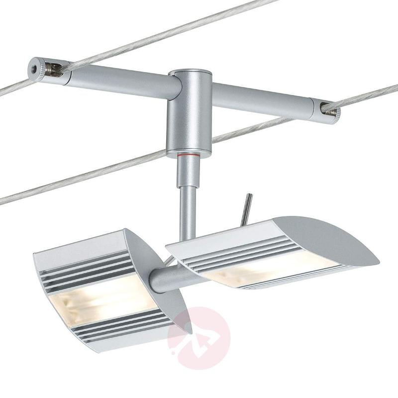 Two Bulb Single Lamp Linja For Wire Or Rail Lamps Lightsco Wiring A Double