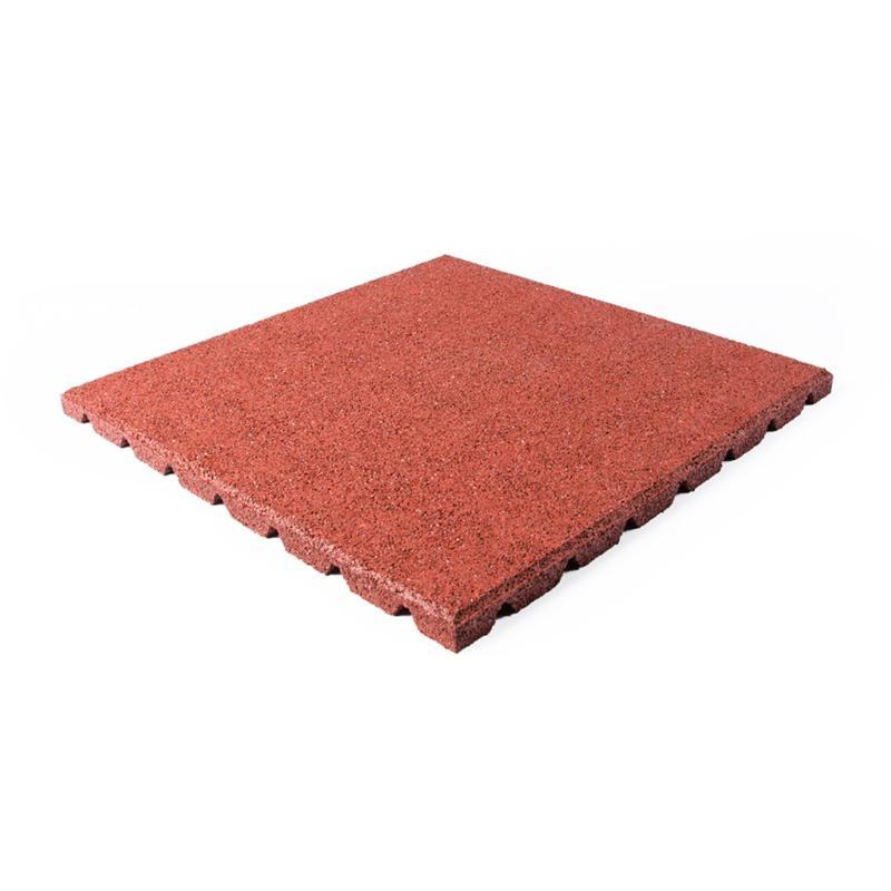 Terrassenplatte rot 50x50x2,5cm - Gummigranulatmatten