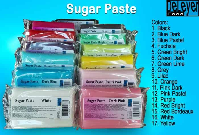Flexible sugar paste