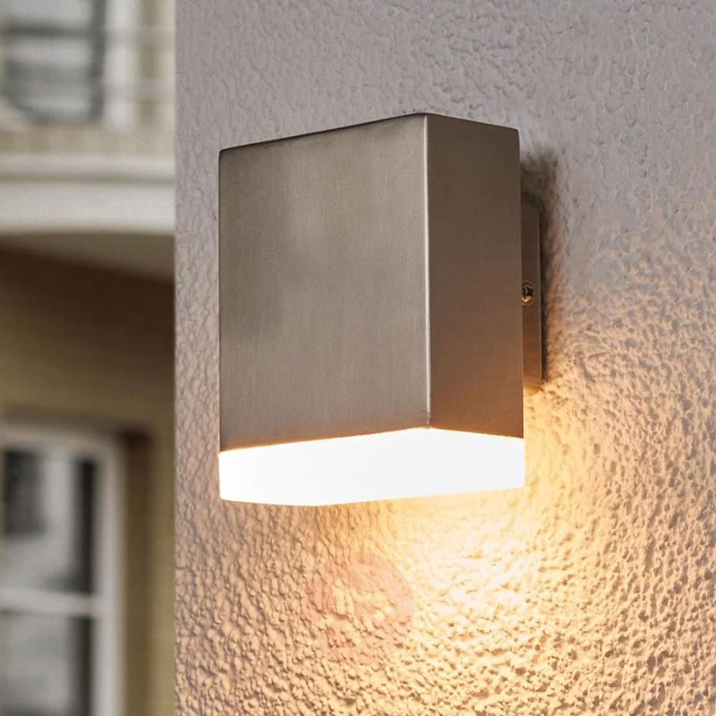 LED outdoor wall light Aya shining downwards - stainless-steel-outdoor-wall-lights