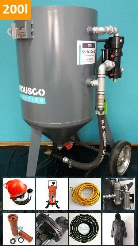 Sandstrahlmaschine Spezial - Set mit CLEMCO Ausrüstung