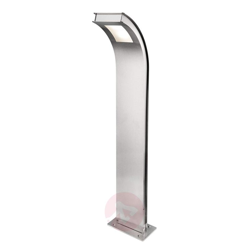 Curved Citos-Stand XL stainless steel path light - outdoor-led-lights