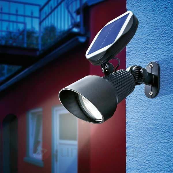 Spot solaire à fixation murale ou au sol - Projecteurs d'extérieur LED