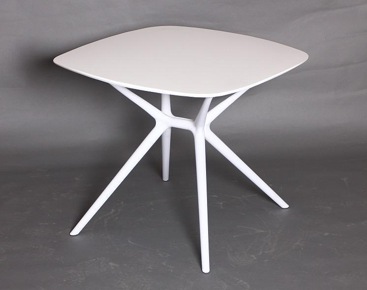 Mesa de diseño Paris color blanco - mesa extensible cristal