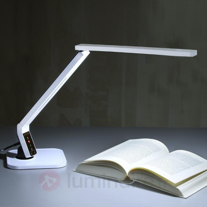 Lampe de bureau LED ultra-moderne Eleni blanche - Lampes de bureau LED