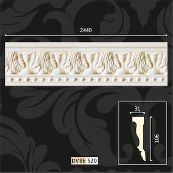 polyurethane wall borders design Ornaments