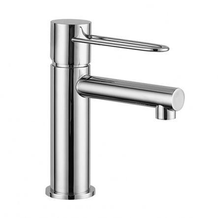 Miscelatore monocomando lavabo con scarico CLICK- CLACK. - Silk / ART.6910