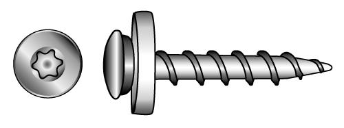 Special-screws for window boards, with coarse thread,... - Material A2