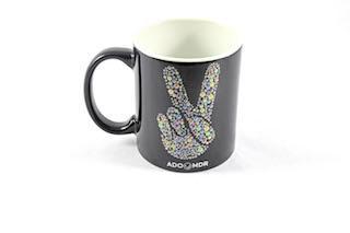 Mug PEACE&LOVE noir