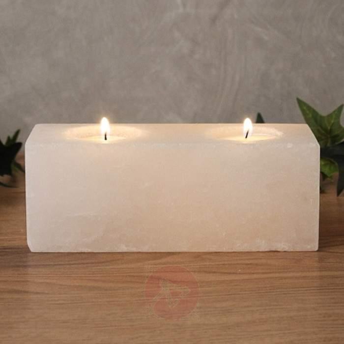 Twin Cube White Line tea light holder - null
