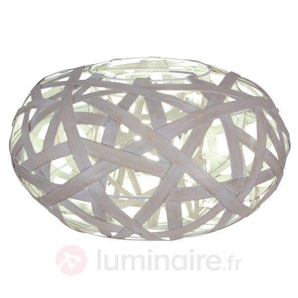 Esthétique lampe à poser en bois Korbys - Lampes à poser en bois