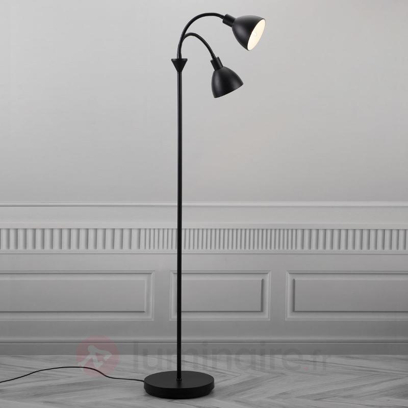 Lampadaire Ray en métal noir à 2 lampes - Tous les lampadaires