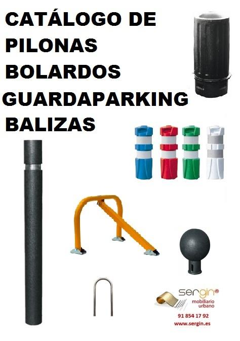 Bolardos-pilonas,balizas flexibles,horquillas y guardaparkin - metal,fundición y plástico flexible.