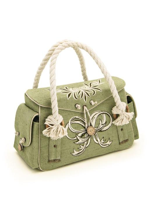 Textile molded  hand bag made of 100% flax.  -