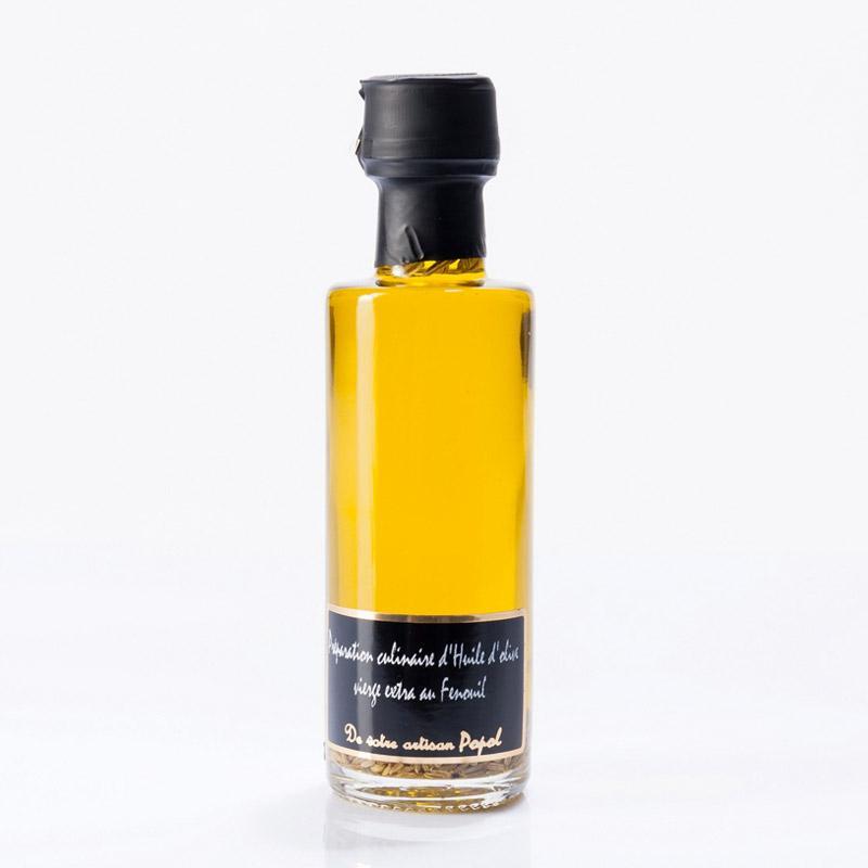 Huile d'Olive au Fenouil - Bouteille en Verre de 200 ml