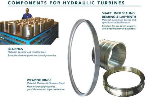 Gussteile für Wass und Gas Turbinen - Schleudergussteile aus Edelstahl oder Kupfer basis Legierungen