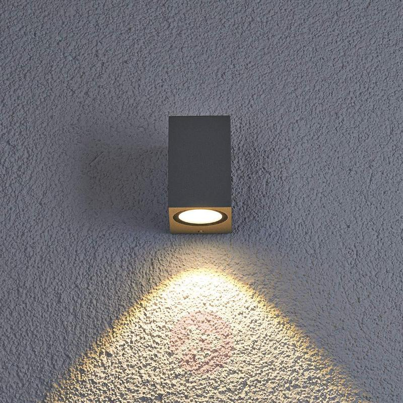 LED outdoor wall light Tavi, aluminium grey - Outdoor Wall Lights