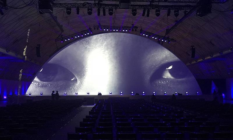 Pantallas de proyección - En algunos eventos las pantallas de proyección son parte fundamental