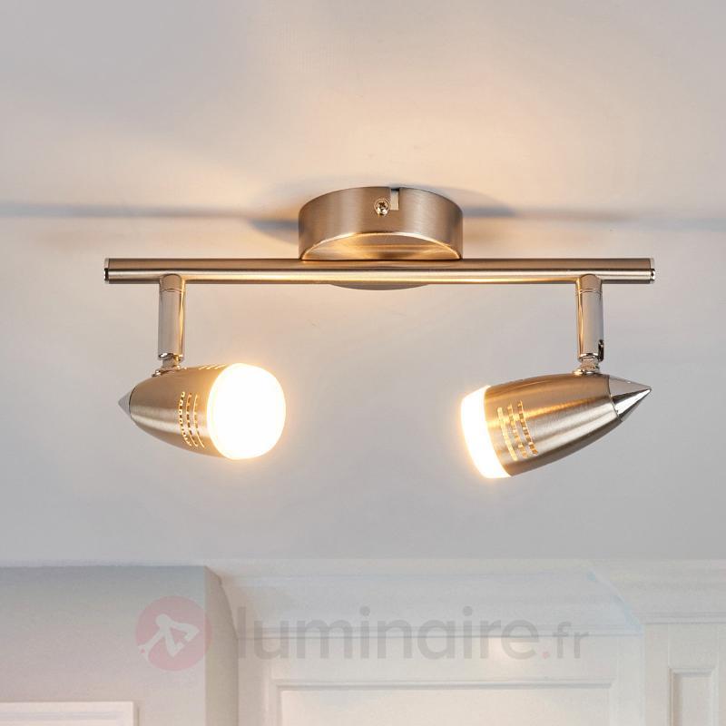 Spot à LED à 2 lampes Andy - Spots et projecteurs LED