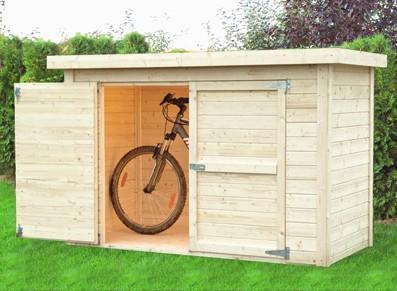 Abri vélo en bois - null