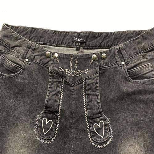 Denim shorts  Stonewashed blue jeans middle pants -